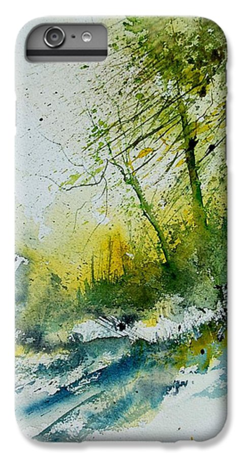 River IPhone 7 Plus Case featuring the painting Watercolor 181207 by Pol Ledent