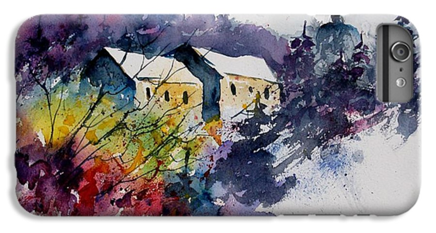 River IPhone 7 Plus Case featuring the painting Watercolor 231207 by Pol Ledent