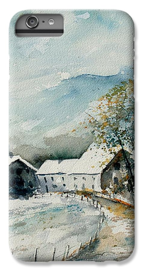 River IPhone 7 Plus Case featuring the painting Watercolor Sechery 1207 by Pol Ledent