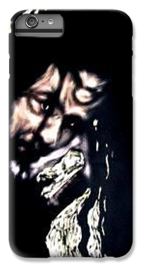 Portrait IPhone 7 Plus Case featuring the mixed media Wear My Crown Down by Chester Elmore