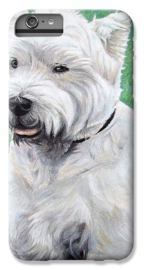 Dog IPhone 7 Plus Case featuring the painting West Highland Terrier by Nicole Zeug