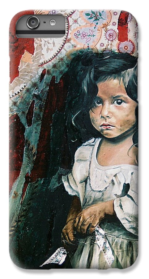 Asian Girl IPhone 7 Plus Case featuring the painting What Is My Worth by Teresa Carter