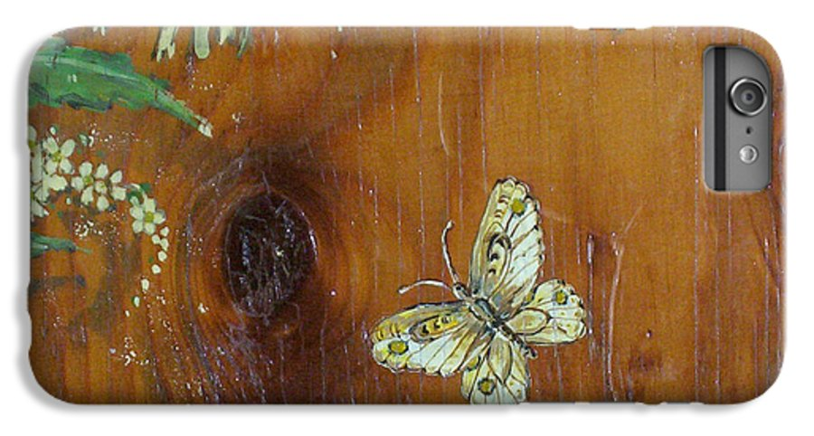 Wildflowers IPhone 7 Plus Case featuring the painting Wheat 'n' Wildflowers II by Phyllis Mae Richardson Fisher