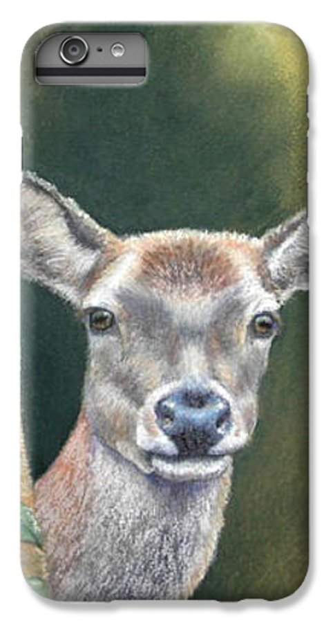 Rainforest IPhone 7 Plus Case featuring the painting White Tail Doe At Ancon Hill by Ceci Watson