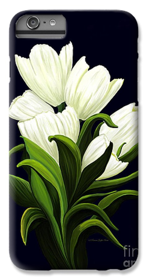 Mixed Media IPhone 7 Plus Case featuring the painting White Tulips by Patricia Griffin Brett