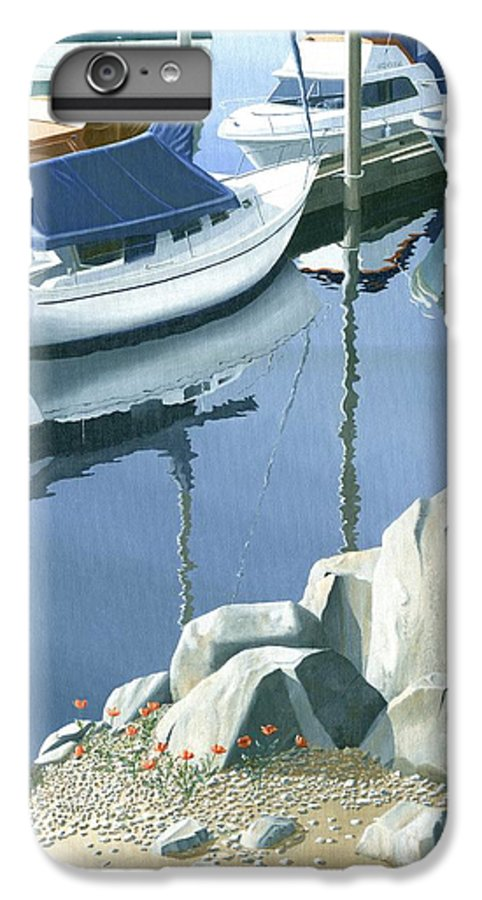 Sailboat IPhone 7 Plus Case featuring the painting Wildflowers On The Breakwater by Gary Giacomelli