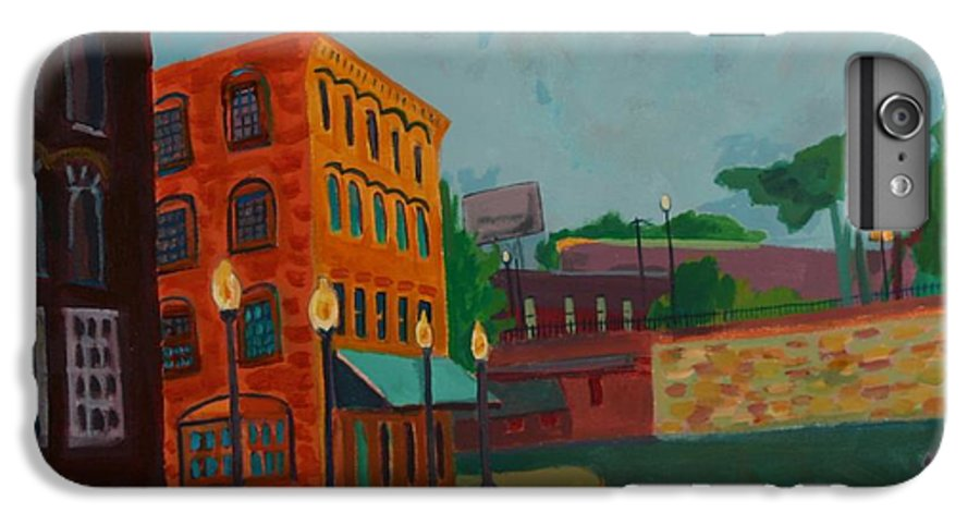 Cityscape IPhone 7 Plus Case featuring the painting Wingate Street by Debra Bretton Robinson