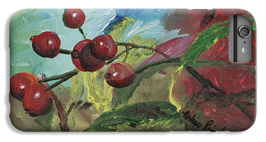 Berries IPhone 7 Plus Case featuring the painting Winter Berries by Nadine Rippelmeyer