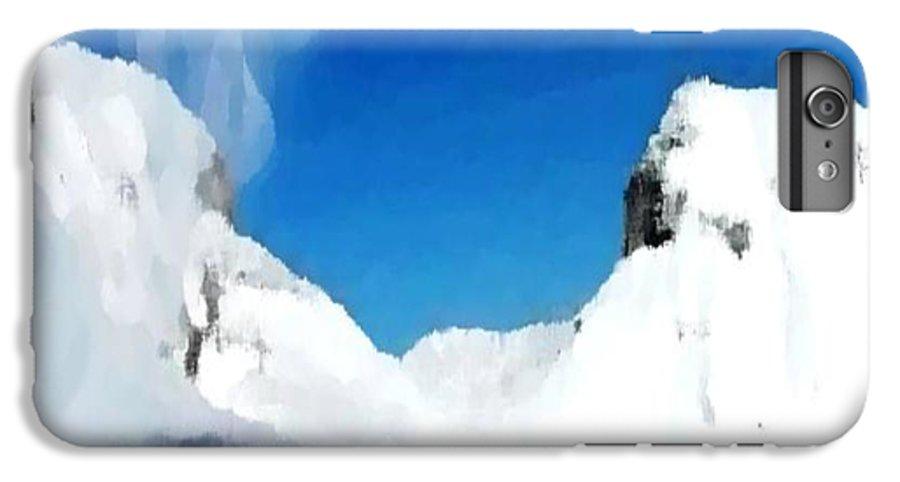 Landacape IPhone 7 Plus Case featuring the digital art Winter Wind by Dr Loifer Vladimir