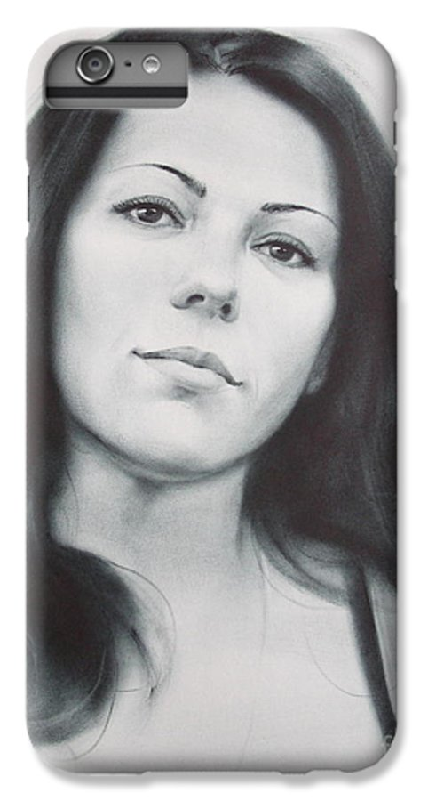 Art IPhone 7 Plus Case featuring the drawing Woman by Sergey Ignatenko