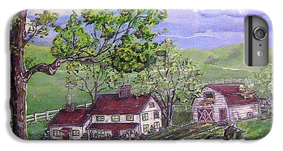 Landscape IPhone 7 Plus Case featuring the painting Wyoming Homestead by Phyllis Mae Richardson Fisher