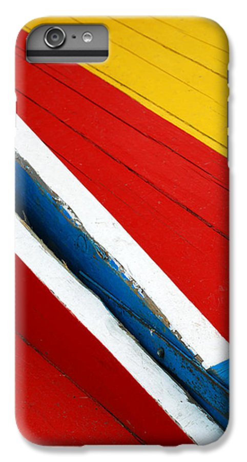 Red IPhone 7 Plus Case featuring the photograph Xochimilco Boat Abstract 1 by Skip Hunt