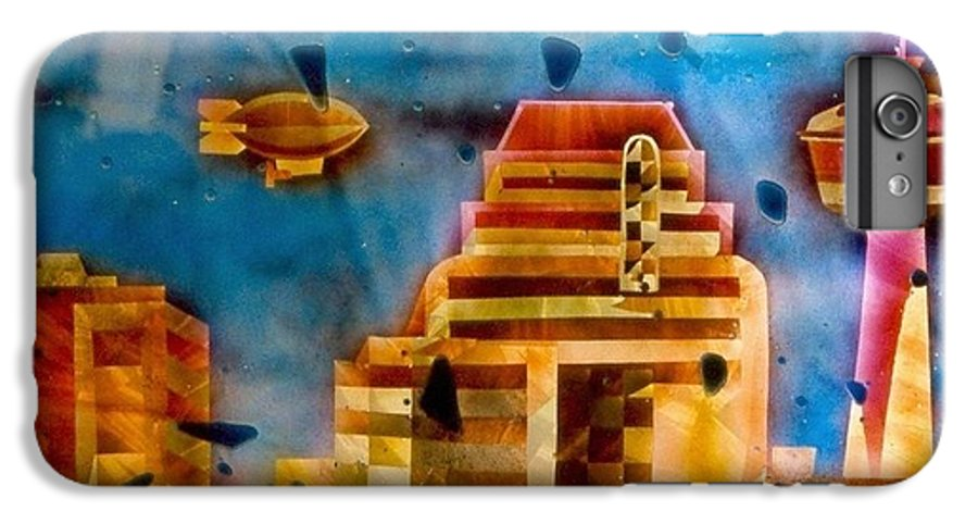 Landscape IPhone 7 Plus Case featuring the painting Zepplins Detail by Rick Silas