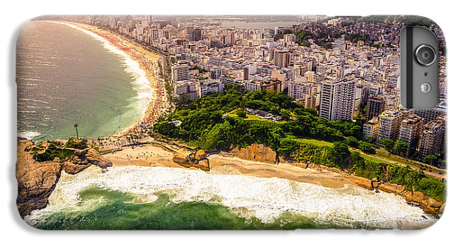 Serenity IPhone 7 Plus Case featuring the photograph Aerial View Of Buildings On The Beach by Celso Diniz