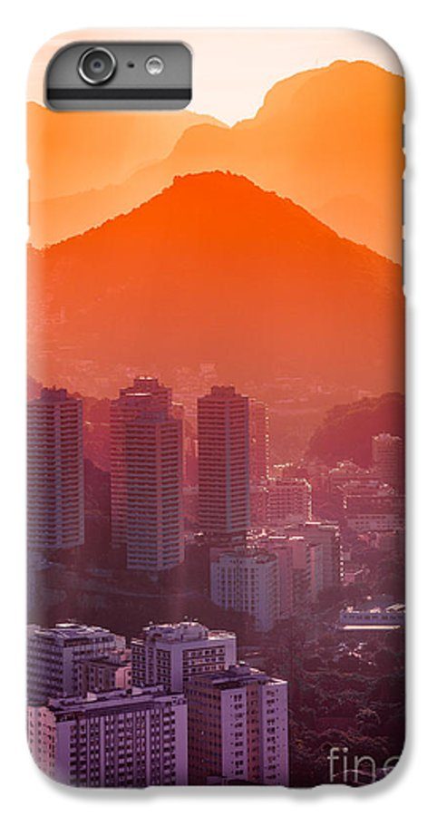 City IPhone 7 Plus Case featuring the photograph Cityscape With Mountain Range In The by Celso Diniz