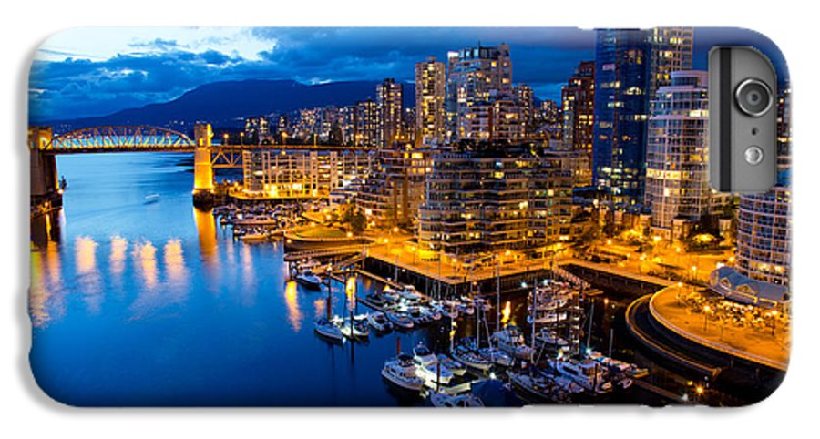 Night View IPhone 7 Plus Case featuring the photograph Vancouver Night View by Abesan