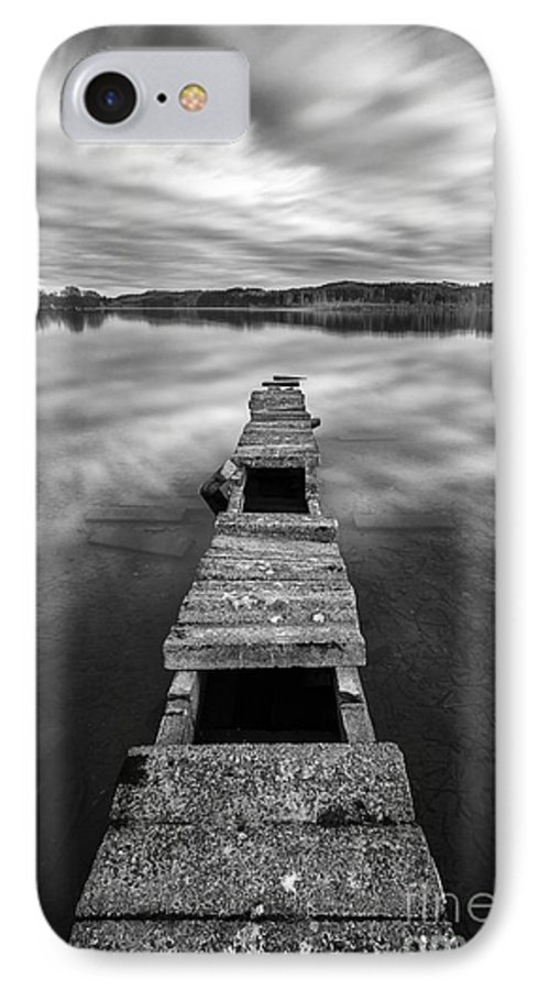 Boat Jetty IPhone 8 Case featuring the photograph Across by John Farnan