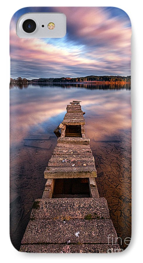Boat Jetty IPhone 8 Case featuring the photograph Across The Water by John Farnan