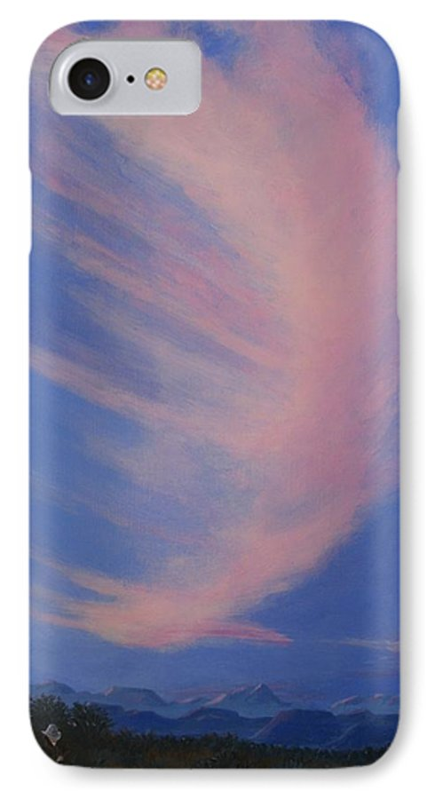 Western IPhone Case featuring the painting Cowboy Wakeup Call by Janis Mock-Jones