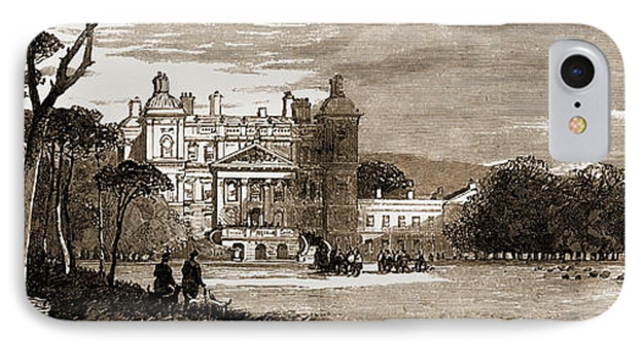 Duff IPhone 8 Case featuring the drawing Duff House, Banff, Scotland, The Seat Of The Earl Of Fife by Litz Collection
