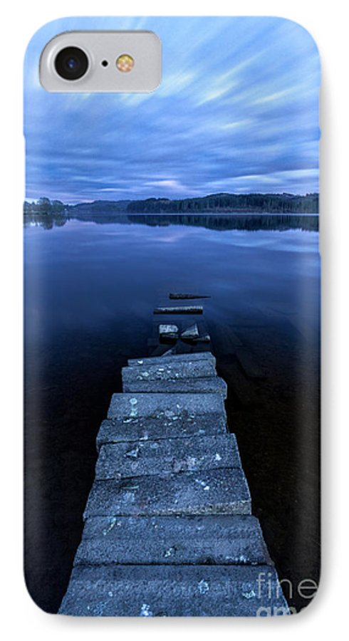 Boat Jetty IPhone 8 Case featuring the photograph Moonlight Shadow by John Farnan