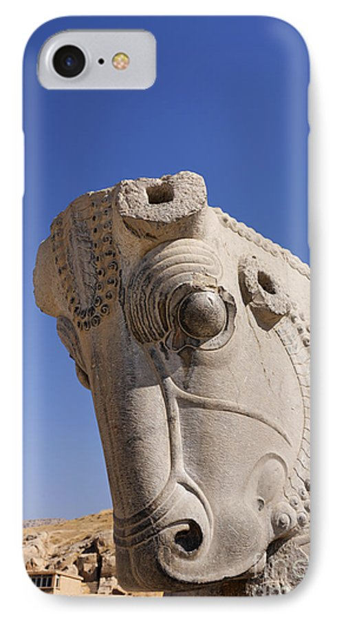 Sculture Of A Horses Head At Persepolis In Iran Iphone 8 Case For Sale By Robert Preston
