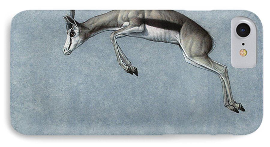 Springbok IPhone 8 Case featuring the painting Springbok by James W Johnson