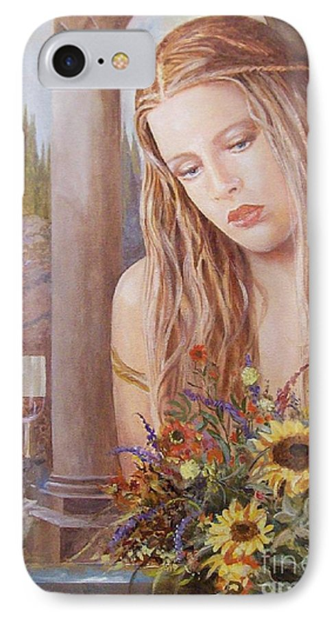 Portrait IPhone Case featuring the painting Summer Day by Sinisa Saratlic