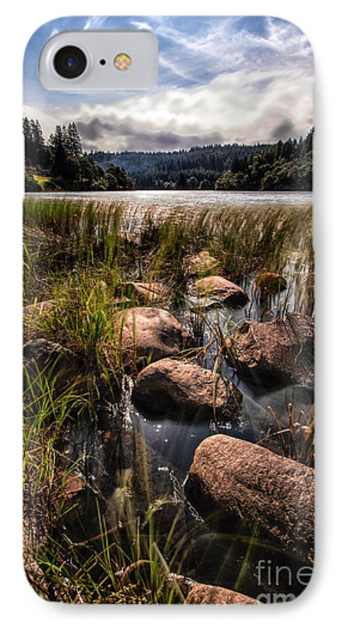 Trossachs National Park IPhone 8 Case featuring the photograph Loch Ard From The Reed Beds by John Farnan