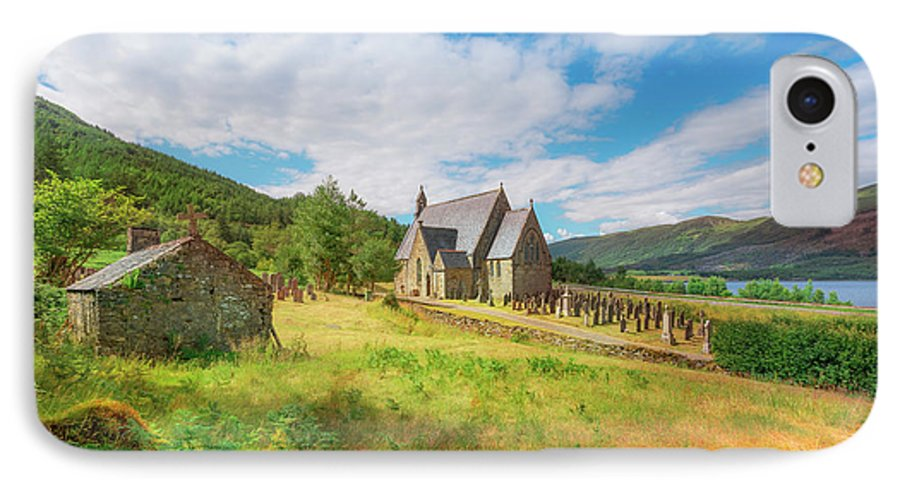 Ballichulish Church IPhone 8 Case featuring the photograph The Old Highland Church by Roy McPeak