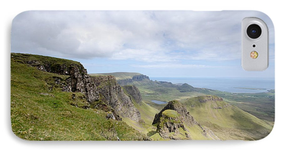 Quiraing Scotland IPhone 8 Case featuring the photograph The Quiraing by Smart Aviation