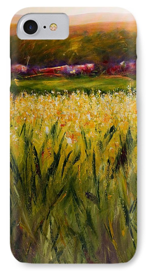 Landscape IPhone Case featuring the painting Beyond The Valley by Shannon Grissom