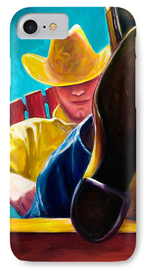Western IPhone Case featuring the painting Break Time by Shannon Grissom