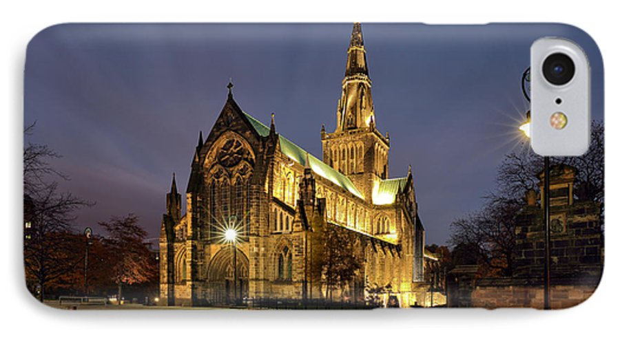 Glasgow Cathedral IPhone 8 Case featuring the photograph Cathedral Twilight by Grant Glendinning