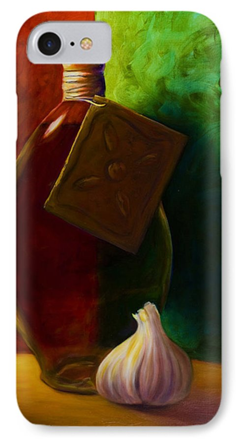 Shannon Grissom IPhone Case featuring the painting Garlic And Oil by Shannon Grissom