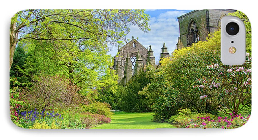 Holyrood Palace IPhone 8 Case featuring the photograph Holyrood Abbey And Gardens, Edinburgh, Scotland by Ina Kratzsch