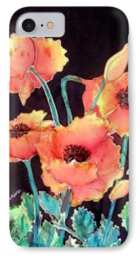 Poppies IPhone Case featuring the painting Orange Poppies by Francine Dufour Jones