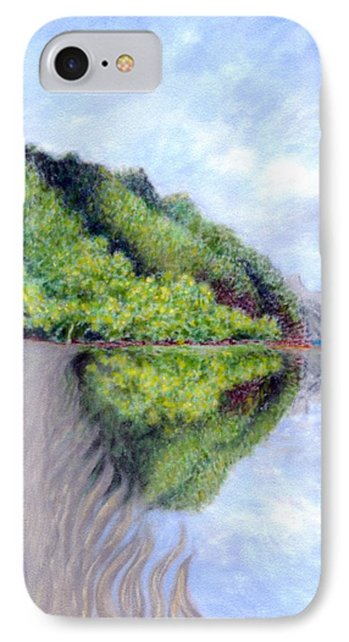 Coastal Decor IPhone Case featuring the painting Reflection by Kenneth Grzesik