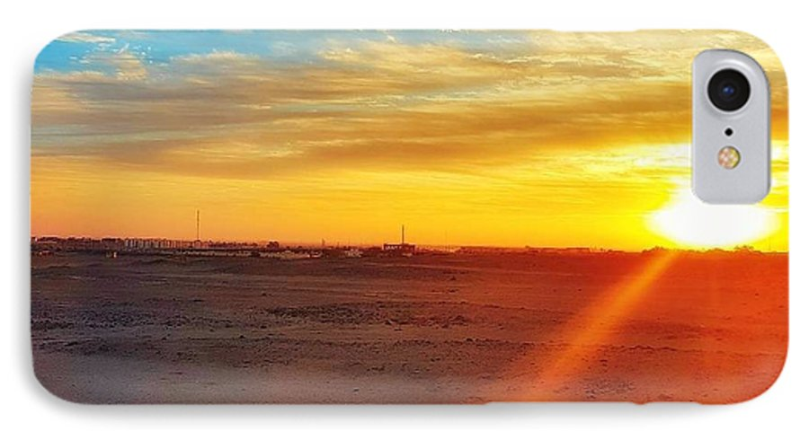 Sunset IPhone 8 Case featuring the photograph Sunset in Egypt by Usman Idrees
