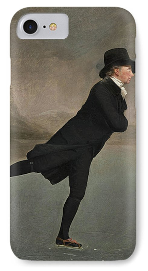 Skating Minister IPhone 8 Case featuring the painting The Reverend Robert Walker Skating On Duddingston Loch by Sir Henry Raeburn