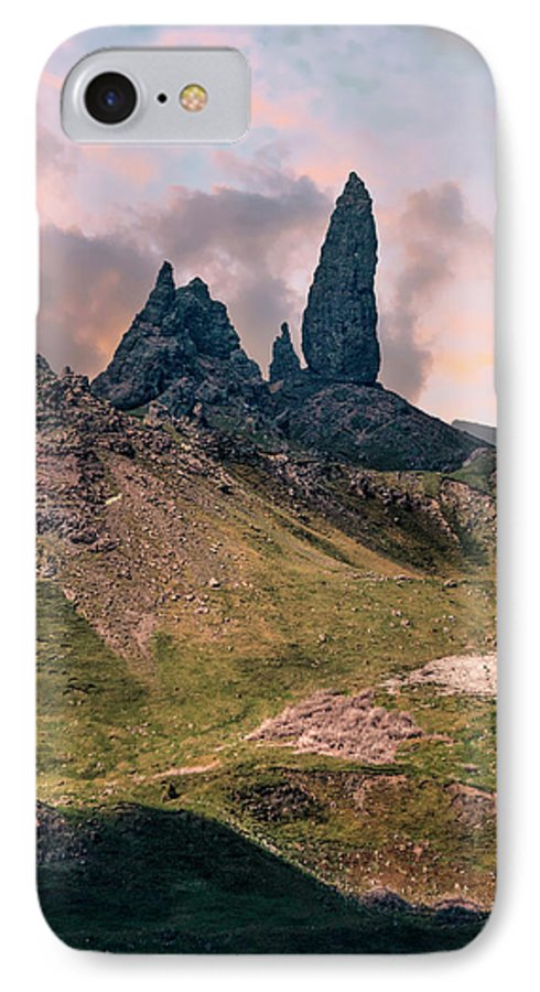 Hill IPhone 8 Case featuring the photograph The Storr by Jaroslaw Blaminsky