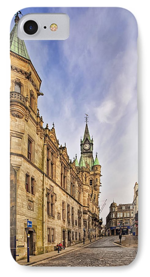 Architecture IPhone 8 Case featuring the photograph The Dunfermline Streets by Marcia Colelli