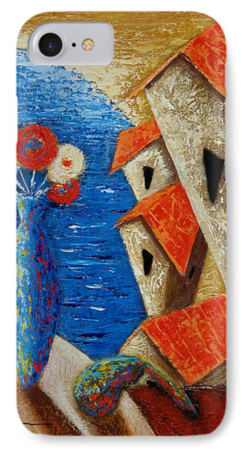Landscape IPhone Case featuring the painting Ventana Al Mar by Oscar Ortiz