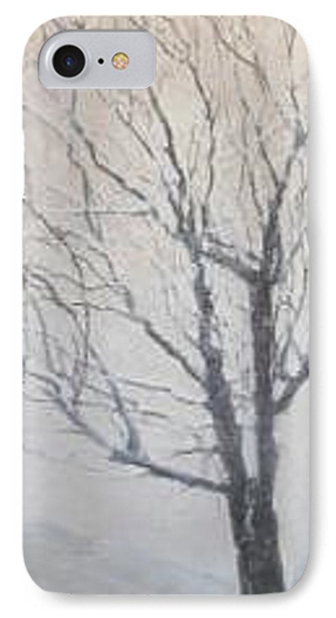 Tree IPhone Case featuring the painting Winter by Leah Tomaino