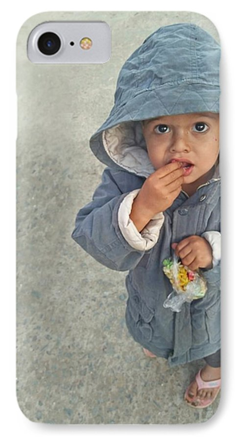 Cute IPhone 8 Case featuring the photograph Cute Baby by Imran Khan