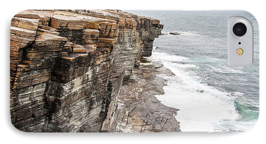 Big IPhone 8 Case featuring the photograph Rocks And Cliffs Of Mull Head Nature by Duchy