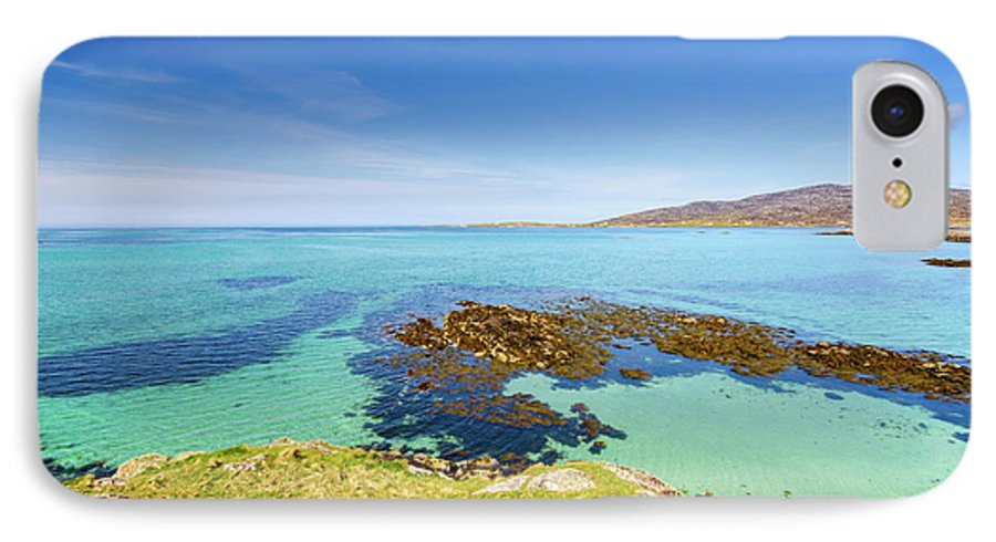 Eriskay IPhone 8 Case featuring the mixed media The Sound Of Barra by Smart Aviation