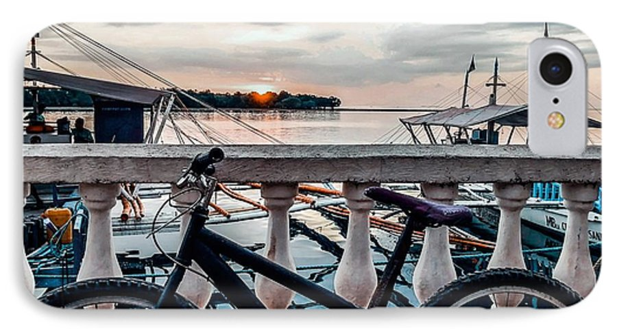 Bike IPhone 8 Case featuring the photograph Traveller's point by Dynz Abejero