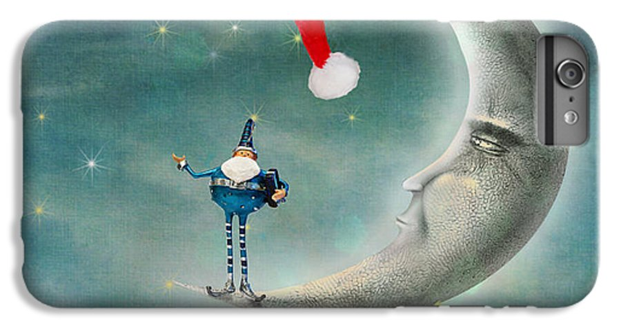 Christmas IPhone 8 Plus Case featuring the photograph Christmas Moon by Juli Scalzi