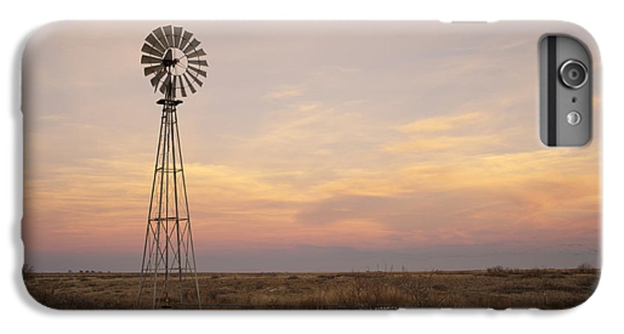 Windmill IPhone 8 Plus Case featuring the photograph Sunset On The Texas Plains by Melany Sarafis
